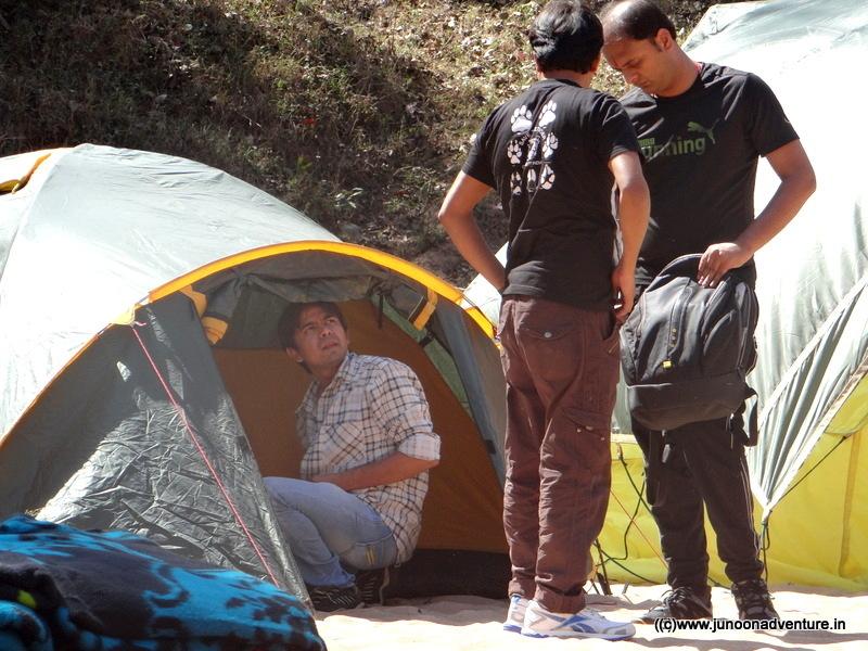 Camping at Satdhara Pachmarhi